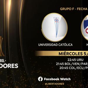 En vivo: UC vs Nacional – Fecha 03 Copa Libertadores